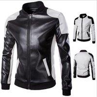 мужская одежда оптовых-2018 Классический стиль мотоспорт PU кожаные куртки мужчины тонкий мужской мотор куртка мужская одежда MWP148