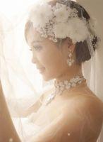 Wholesale Hiar Flower - Graceful Wedding Bridal Headband Petal Pearl Beaded 2015 Lace Appliqued Headpiece Jewely New Hiar Accessories