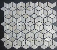 freie bodenfliesen großhandel-FREIES VERSCHIFFEN Raute-Shell-Mosaik-Fliesen, 42 * 24; Naural reine weiße Perlmuttfliesen, Küche backsplash, Badezimmerwandbodenbelagfliesen