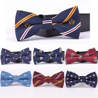 Wholesale Korean Marry Dress - England bow tie for men marry men dress personality tide male Korean groom wedding tie bow