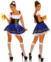 Wholesale Beer Tv - XXL XXXL Plus Size Sexy Serving Wench Costume Germany Oktoberfest Beer Girl Maid Cosplay Fancy Dress Halloween Party Costume Outfits 8046