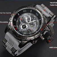 Wholesale Super Speed Stainless - men watch 2015 New V6 Super Speed Silicone Quartz 3D surface Male Hour Clock Analog Military Big Dial Sport Man Watch