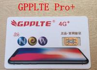 Wholesale Iphone Gpp - 2017 New Original GPP 4G+ Unlock sim card Perfect SIM Unlock Card Official IOS 10 ios 11 can unlock for all GSM CDMA in world DHL free