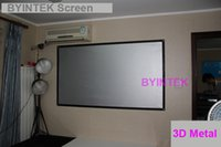 Wholesale High Contrast Screen - Wholesale-high quality high gain high contrast 150inch 3D silver metal 4:3 fabric Projection Screen with black border