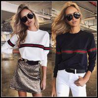 Wholesale casual european style hoodie - European Style Jackets Hoodies Women Patchwork Sweatshirts Vogue Shirt Long Sleeve Coat Casual Tops Autumn Pullover Hoodies CCA8175 10pcs