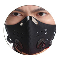 Wholesale carbon bicycles for sale resale online - Hot Sale Black Anti fog Dust Mountain Bike Bicycle Cycling Outdoor Sports Activated Carbon Dust Mask for men women