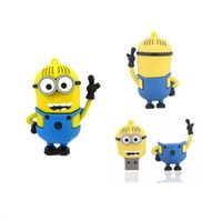Wholesale Despicable Usb Memory - Minions Despicable Me 2 64GB 128GB 256GB USB 2.0 Flash Drive Memory Stick pen drive pendrive ratail package drop free shipping 0007