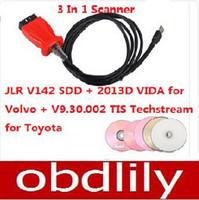 Wholesale Opel Tis - 2015 Newest JLR V142 SDD + 2013D VIDA Dice forvolvo + V9.30.002 TIS Techstream fortoyota 3 In 1 Scanner Free Shipping
