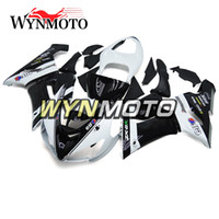 Wholesale Zx6r Frame - Frames New Fairings For Kawasaki ZX-6R 636 2005-2006 05 06 Injection ABS Plastics Hull Covers Motorbike ZX6R White Black Panels Sportbike
