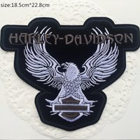 Wholesale Eagle Embroidered Patches - Free shipping Eagle LOGO embroidered Badge Iron Quality Appliques DIY Hat accessory garment bag patches