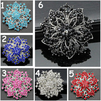 Wholesale vintage wedding bouquets brooches for sale - Group buy 6 Colors Mixed Crystals Flower Vintage Brooch Sparkling Diamante Women Wedding Bouquet Brooch Pins Fantastic Gift Broach Pin