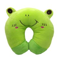 Atacado- Multi-Patterns Lovely Neck Pillow Travel U Rest Cute Cartoon Soft Car Airplane Cushion Cushion Protect X1