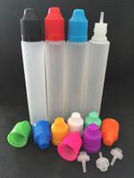 Wholesale Cheap Liquid E Cigarette - Cheap E Cigarettes 15ml 30ml Unicorn Bottle Dropper PE Plastic Empty Pen Style Bottle With Colorful Caps E Liquid Bottles