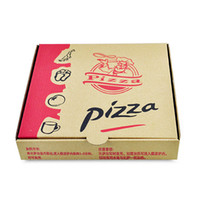 Wholesale Paper Box Pizza - 9 inches Disposable Kraft Paper Pizza Box Eco Friendly Takeaway Party Dessert Cake Box Pizza Packaging 100pcs lot SK804