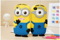 Wholesale Despicable S4 Case - 3D Despicable Me 2 soft silicone case more minions for iphone 4 4S 5 5S 5C 6 PLUS Samsung galaxy S3 S4 S5 S6 mini note 3 2 ipod touch 4 5