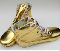Wholesale Elastic Dance Shoes - Wholesale-Hot Sales PU Jazz Dance Boots Silver Gold Soft Sole Dance Shoes Women's Practice Dance Shoes for women free shipping