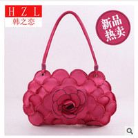 Wholesale Exclusive Handbags - Wholesale-National handmade exclusive designs of handbags woven bag purse Vietnam Korea's Love 66 large roses bag