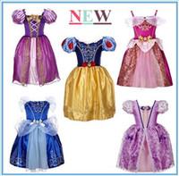 Wholesale Vestidos Festa Kids - New Fantasy Kids Festa Halloween Snow White Rapunzel Sofia Costume Cinderella Dress Vestidos Girl Dress Princess Dresses free shipping