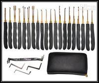 conjunto de trava de trava livre venda por atacado-Conjunto de cadeados, Ferramentas de serralheiro, ferramenta padlcok.cross pick.pick gun 20pcs frete grátis