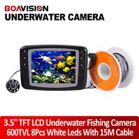 Wholesale Camera Fish Finder System - 2015 new video Underwater Fishing Camera System 8 IR White LEDs 15M(49.5FT) HD 600TVL Fish Camera With Portable 3.5 inch TFT LCD Fish Finder