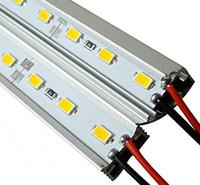 Wholesale Led Bar Slot - DC12V 50cm 0.5m 36led 5050 Alloy Rigid Bar light Led Strip light Non-Waterproof Warm White White +U V Aluminum Slot Cover