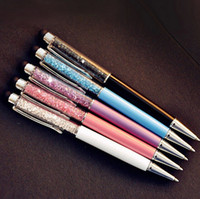 Wholesale Zakka Wholesale - Crystal Pen Diamond Ballpoint Pens Stationery Ballpen Caneta Novelty Gift Zakka Office Material School Supplies 5pcs lot