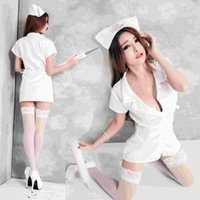 Nurse Costume Men White online - Uniform taste wholesale nurse outfit nightclub KTV DS' costume manufacturers selling a generation 1102