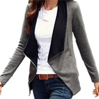 Plus Size Women Fashion Basic Jacket Tute Coreano 2017 Primavera Autunno manica lunga Capispalla Zipper Slim Blazer Coat Top