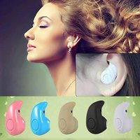 Wholesale invisible ear bluetooth headphones resale online - S530 Mini Sports Trendy Invisible Earphone Wireless Bluetooth In ear Headphones Stereo Handsfree Headset for All Phone w Box