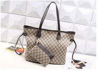 Wholesale Distressed Leather Wallet - wholesale classic famous luxury brand women wallets new quality female shoulder bag tote handbag (N41357)3 color women's mother bag purse