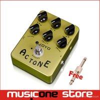 Wholesale Guitar Amp Tone - JOYO JF-13 AC Tone Vox Amp Simulator Guitar Effect Pedal Guitarra Parts True Bypass for Musical Instrument Electronic New mu0013
