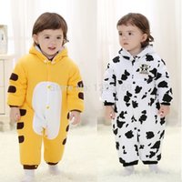 Wholesale Tiger Leotards - 2015 Spring autumn new cotton kids cows tiger rompers crotch leotard style climbing clothes baby products MY323, free shipping