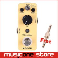 Wholesale Acoustic Electric Jumbo Guitar - Mooer Acoustikar Acoustic Guitar Simulator Pedal 3 Working Modes Piezo Standard Jumbo Full metal shell True bypass MU0356