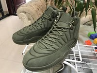 Wholesale Carbon Air Free - 2017 Air Retro 12 XII Basketball Shoes Mens Sneakers Bordeaux Olive Wheat Purple Green With Box Free Shipping Real Carbon Fiber With Box