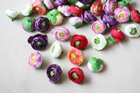"Wholesale Silk Rose Bud Heads - 50pcs 1.3"" Tea Rose Buds Artificial Silk Flower Heads For Wedding Home Bridal Bouquet Decoration"