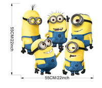 Wholesale Minion Lights - 2015 New Minions Wall Stickers Removable Home Decor Decals Sticker Wallpaper Baby Rooms Decoration 55*55 CM