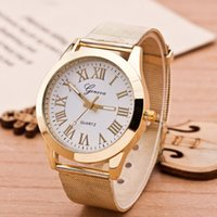 Wholesale Dress 1413 - New Fashion Watch Women Geneva Watch Gold Quartz Watch Women Dress Watch Reloj Mujer Relojes Relogio Feminino BW-SB-1413