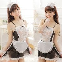 Wholesale Dress Sexy Lingerie Costume Servant - w1031 New HOT Sexy Lingerie Cosplay Dress Costume Head hoop Maid servants Party + G-string