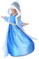 Wholesale Childrens Special Occasion Clothing - Frozen Dresses For Babay Girls Blue Costume Frozen Childrens Special Occasion Dresses Kids Clothes Hot Sale