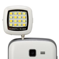 Wholesale White Built in led lights iblazr LED FLASH for Camera Phone support for multiple Photography mini selfie sync led flash
