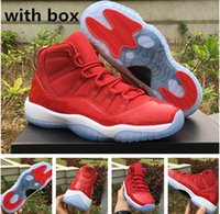 Wholesale Price Carbon - Women Retro 11 gym red win like 96 real carbon fibre basketball shoes with box free shipping wholesale price