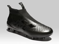 Wholesale Patent Control - 2018 latest Ace 16+ Pure Control FG - Messi blackout Mens football boots Top soccer shoes best soccer cleats