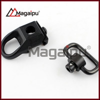 Wholesale Rail Attachments - A Set Rail Sling Attachment Sling Mount Black Picatinny New Rail Mounted Quick Release Detach QD Sling Attachment with Swivel Base