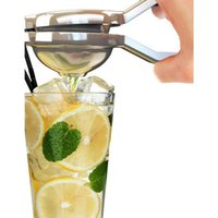 Wholesale lemon squeezer free shipping - Lemon Squeezers & Reamers Fruit & Vegetable Tools convenient kitchen helper for orange lemon with stainless steel Free shipping