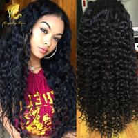 Wholesale Long Hair For Sale - Brazilian curly human hair lace front wig on sales cheap curly full lace human hair wigs for black women