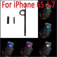 o iphone acende venda por atacado-6 S Luminescente LED Light Up Transparente Logotipo do Painel Mod Kit Capa Traseira Para o iphone 6 S 4.7 polegadas Frete Grátis