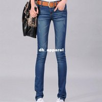 2014 Nuova Estate Autunno floreali flangiatura Donne Jeans piedini scarni sottili Custom Fit Denim Pencil Pants 56nzk005