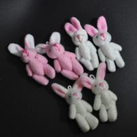 Wholesale Mini Plush Bunnies - Bulk 4.5CM Plush Mini Bunny Cute Joint Rabbit stuffed animals Craft Stuffed Dolls Plush Pendant jewellery Bouquet Phone Bag Soft toys