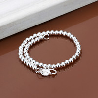 Wholesale Hollow Fish Hook - Hot sale best gift 925 silver6M prayer beads bracelet - Hollow DFMCH114, brand new fashion 925 sterling silver Chain link bracelets