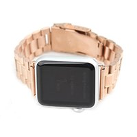 Wholesale Hides For Sale - Hot sale Luxury Stainless steel Fashional watch strap for Apple watch 38mm 42mm band for iwatch for steady man with Adapter connector